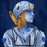 Serie de pinturas azules