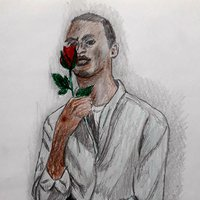 Black Man and a Rose