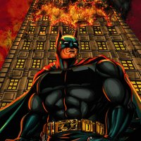 The dark knight: Gotham on flames