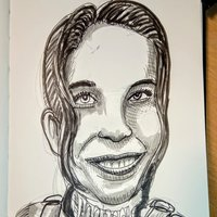 Draw face caricature