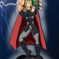 Thor cargando el Movil