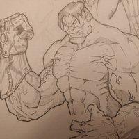Hulk con el guantelete