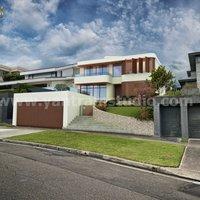 Casa residencial Vista de servicios de renderizado exterior 3D, Madrid - España