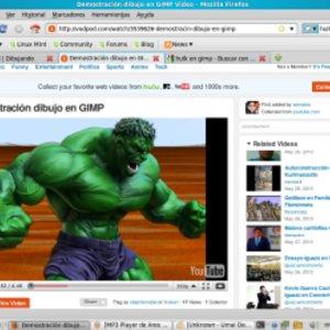 Demostracion Dibujo en GIMP para Hulk.