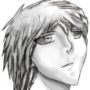 Mi Personaje Kio en blanco y negro