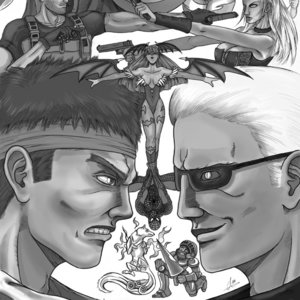 Marvel vs Capcom 3 - blanco y negro