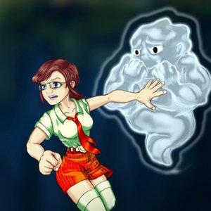 Chica y fantasma.