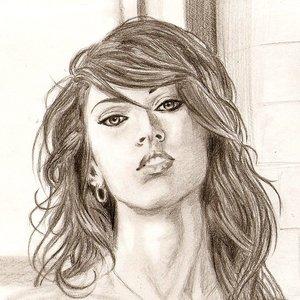 Megan Fox, primer plano.