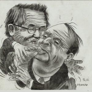 caricatura de fujimori y su compadre