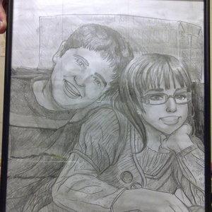 Retrato manga a dos hermanos