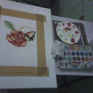 pintando con sangre