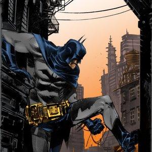 Batman color lineart