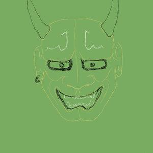 Mascara hannya con referencia de una foto