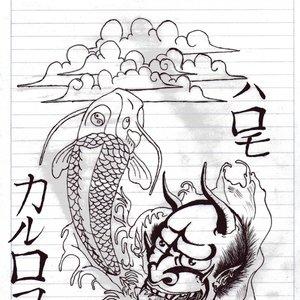 hannya y pez koi