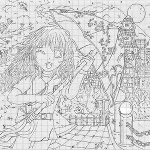 Chica en el viento.