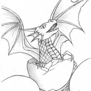Dragon saliendo del huevo