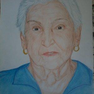 boceto del anciana