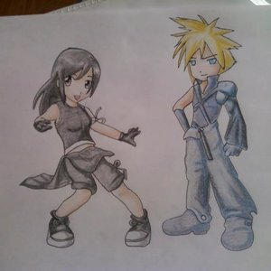 cloud y tifa