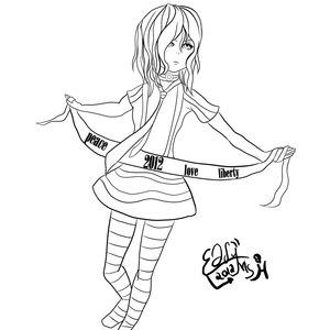 Random Girl - Lineart