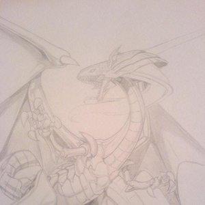 dragon legendario blanco XD