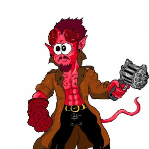 paint hellboy