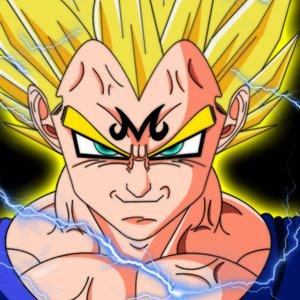 Dibujo digital de Majin Vegeta (Dragon Ball Z)