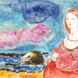 La Dama y el oceano tempestuoso