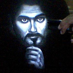 Retrato en camiseta