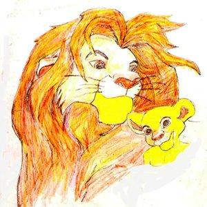 el rey leon y su hijo