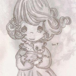 niña hermosa con gatito