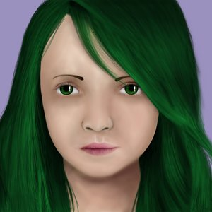 Cabello verde