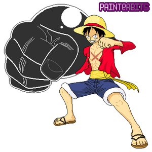 Monkey D. Luffy 3D2Y PixelArt - PainterBits