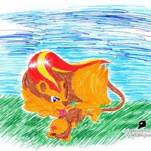 pyroar_y_litleo_70136.jpg