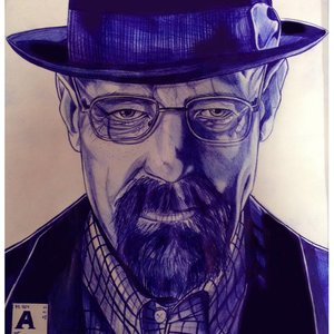 Walter white ( breaking bad ) boligrafo bic