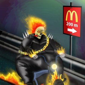 Fat ghost rider