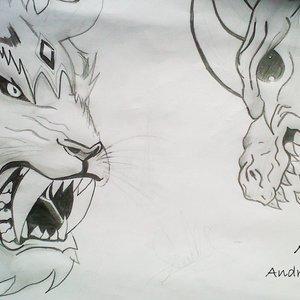 Tigre Blanco vs Dinosaurio
