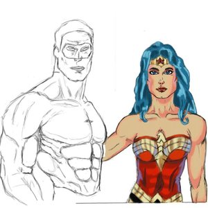 empezando_a_dibujar_con_tablet_wonder_woman_con_linterna_verde_52989.jpg