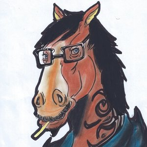 horse hipster