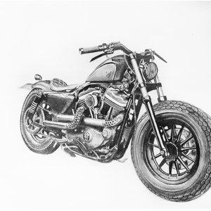 Motocicleta Harley Davidson  (sin fondo)