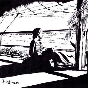Laura en la playa