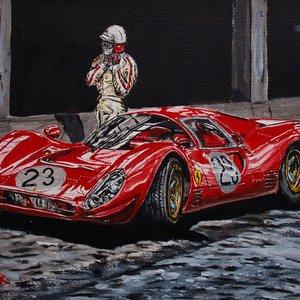 Lorenzo Bandini y el Ferrari 330 P4