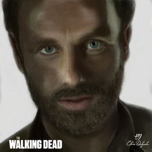 Retrato de Rick Grimes (The Walking Dead)
