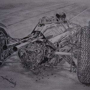 Lotus 25 y Jim Clark