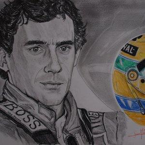 Retrato Ayrton Senna