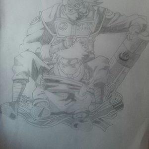 Kakashi y Naruto