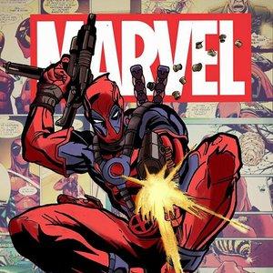 Deadpool dibujo a lapiz, entintado y pintado con el movil