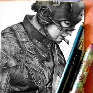 Capitán América (Boceto/Borrador) en progreso