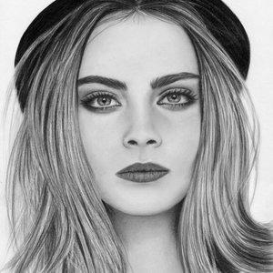 Retrato a lápiz Cara Delevingne