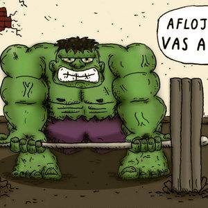 Hulk entrenando...