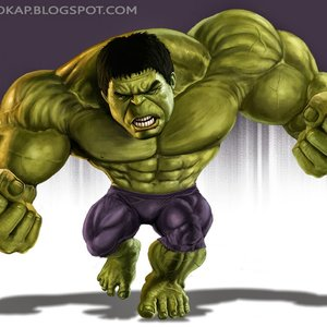 Hulk caricature (+Speed Painting)